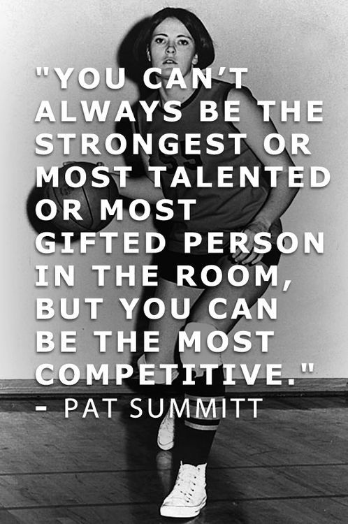 pat summitt competitive